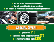 Tyre fitting and Second-hand tyres services in Oxford